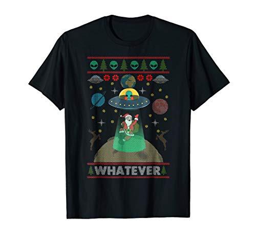 Funny Alien/Santa Ugly Christmas T Shirt