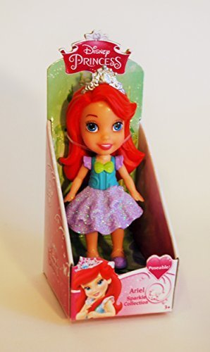 My First Disney Princess Sparkle Collection Mini Toddler Doll Mermaid Ariel by Jakks Pacific (Jakks Pacific For Their Disney Princess Toddler Dolls)