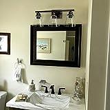 3-Light Vanity Light Fixture, 5-Piece All-in-One