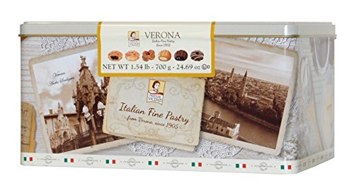 Verona Italian Variety of Six Cookies and Pastries
