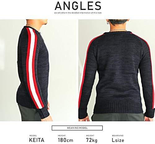 LUX STYLE(ラグスタイル) ニット メンズ セーター ニットソー サイドライン ストリート