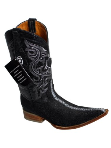 Western Men Genuine Leather Handmade Stingray Print (Ray Western Print)