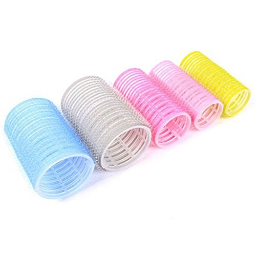 SODIAL(R)6pcs Velcro Grip Cling Hair Styling Roller Hairdressing Tool Soft DIY (3.6cm) 055363A4