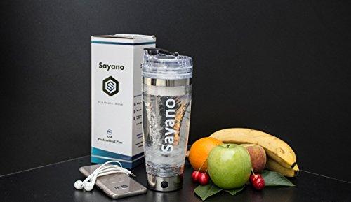 Sayano Professional Plus - Agitador / Batidor eléctrico de Proteinas portátil (USB) con deposito por proteinas - Plata (600ml): Amazon.es: Salud y cuidado ...