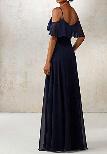 Spaghetti Straps TalinaDress Gowns Long Chiffon Dresses Prom Blush E050LF Shoulder Off Bridesmaid 4qqEt