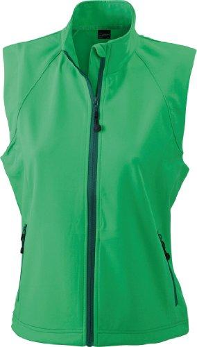 James & Nicholson Damen Jacke Softshellweste grün (green) X-Large