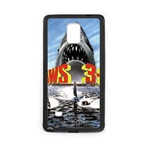 Jaws 3 D High Resolution Poster Samsung Galaxy Note 4 Cell Phone Case Black Cell Phone Case Cover EEECBCAAK71524