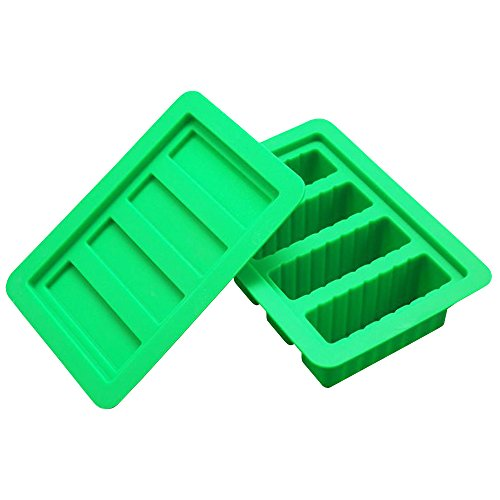 Green Butter Soap - YHSWE 1PCS Green Large butter Silicone container Rectangle butter Mold Soap Bar Storage Jar New