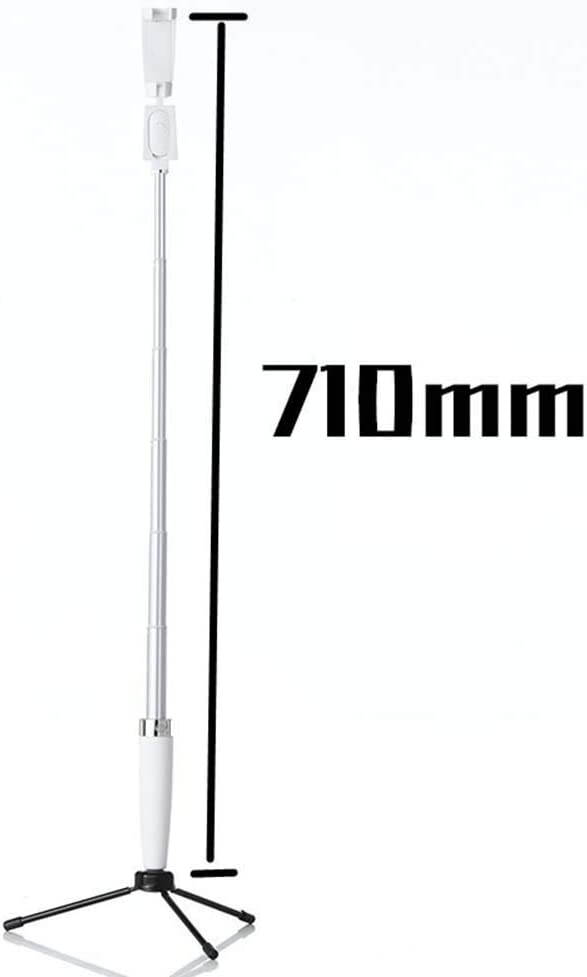 ,White Black Bluetooth Selfie Stick with Tripod Wireless and Extendable Selfie Stick with Bluetooth Remote Control for iPhone 8//8 Plus//Samsung S7 Edge//Sony Xperia XZ Premium Selfie Stick