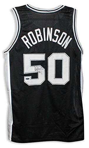 Signed David Robinson Jersey - Black - Autographed NBA Jerseys