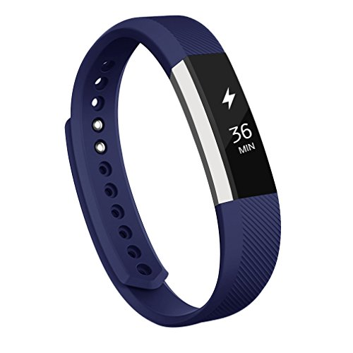 AK for Fitbit Alta Bands, Replacement Bands for Fitbit Alta/Alta HR with Metal Clasp (Blue,Large)
