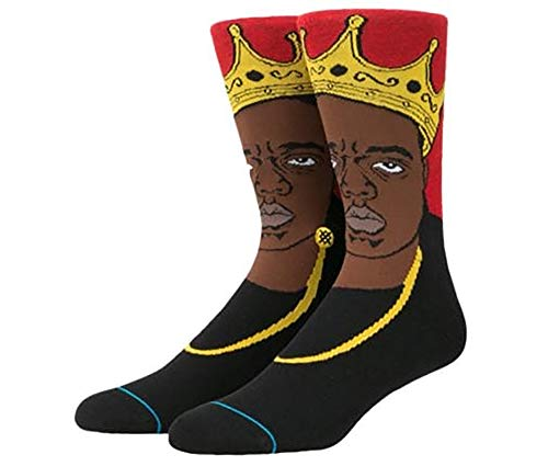Stance Men's Notorious Big Anthem Crew Socks Red Large