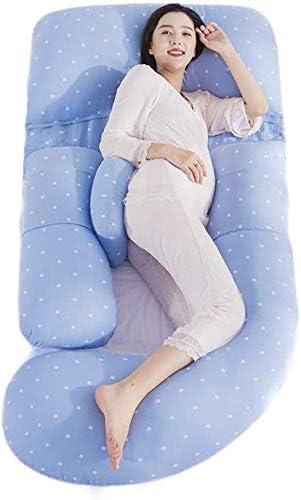 ボーイフレンド枕 Uは、バックベリーヒップ美脚のための妊娠中の女性の快適なコットン枕カバー&マイクロファイバーインナーカバーのためのフルボディ枕を形 抱き枕 (Color : Blue)