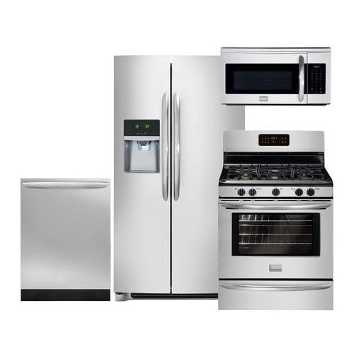 Counter Depth Side (Frigidaire 4-Piece Smudge-Proof Stainless Steel Setwith FGHC2331PF 36