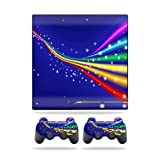 MightySkins Protective Vinyl Skin Decal Cover for Sony Playstation 3 PS3 Slim skins + 2 Controller skins Sticker Rainbow Twist Review