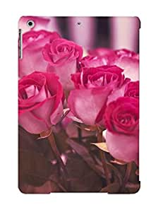 Ipad Air Bouquet Of Pink Roses Print High Quality Tpu Gel Frame Case Cover For New Year's Day