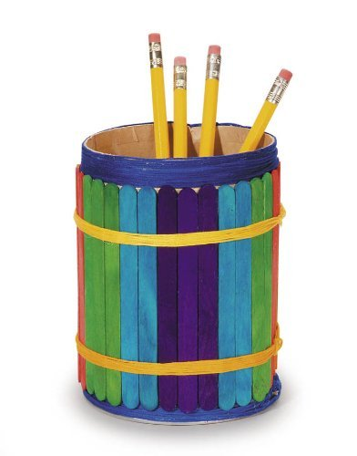 Popsicle Wooden Color Craft Sticks - Vibrant Fun Colors, 4 1/2-Inch - Pack of 240 - Ideal for Crafters, Teachers, and Students