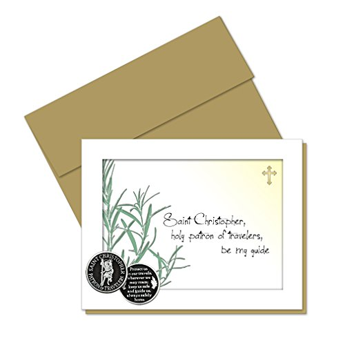 St. Christopher Pocket Token with PJ Lamb Greeting Card