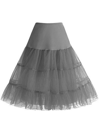 Gonne Sottogonna 50s Grey Vintage Organza Donna Mini Rockabilly Bbonlinedress 0qHvzOnq