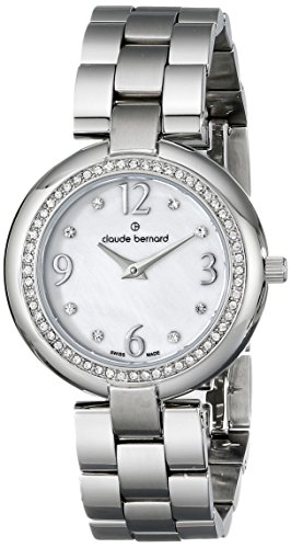 Claude Bernard Women's 20082 3 NAP Dress Code Quartz Analog Display Swiss Quartz Silver Watch