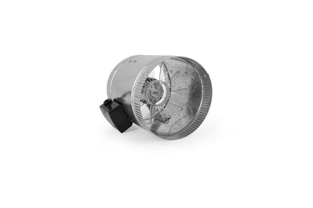 HomeAire Inline Duct Fan for use as Booster in Furnace Heating and Air Conditioning Systems