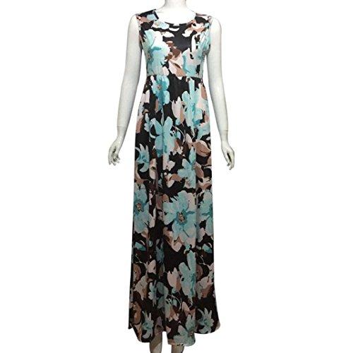 Gown, Han Shi Women's Off Shoulder Print Floor-Length Bodycon Long Dress Skirts (XL)