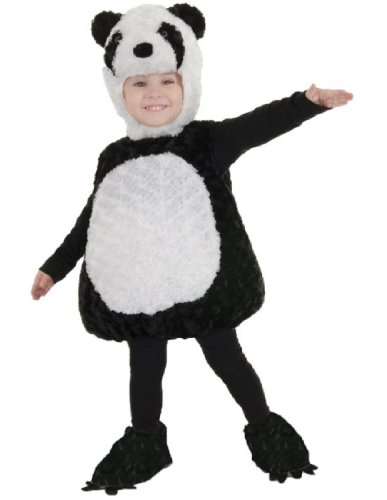 Panda Costumes For Toddler (Underwraps Baby's Panda Belly-Babies, Black/White, Medium)