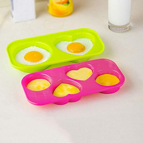Majinz Store Egg Bite Mold 2Pcs Egg Bites Molds Non-Toxic Odorless Microwave Oven Egg Steamer Home Kitchen