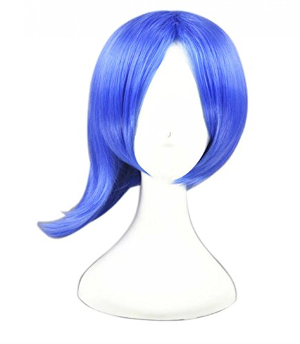 Blue Hair Costume Ideas (LOUISE MAELYS Cosplay Wig Anime Short Wig Hair Halloween Party Hair Extension)