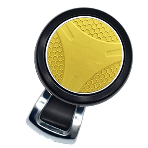 Automobile Universal Steering Wheel Trimmer, Steering Wheel Auxiliary Supercharger 360° Knob Bearing Turning Labor Saving Handle Control Rotator,Yellow: Amazon.co.uk: Sports & Outdoors