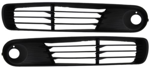 pontiac-g6-05-09-right-left-pair-set-grille-lower-w-fog-coupe-conv-sedan