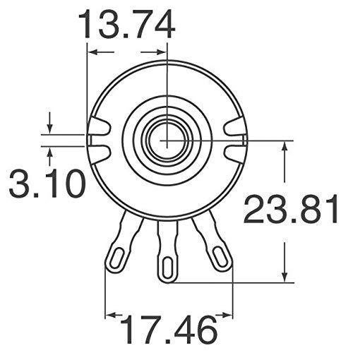 Honeywell Rv4naysd103a Pot 10k Ohm 10 2w 6 35mm Solder