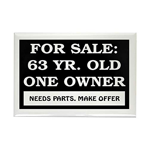 CafePress For Sale 63 Year Old Rectangle Magnet, 2