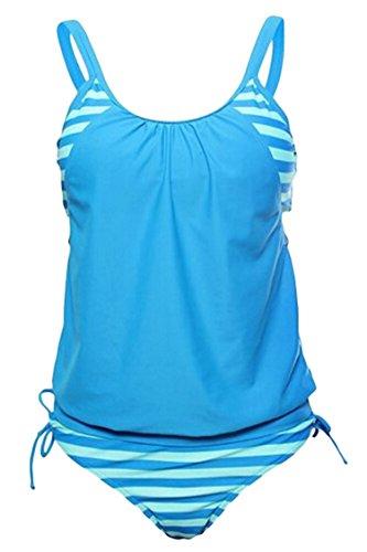 Kisscy Womens Strips Tankini Swimsuit product image