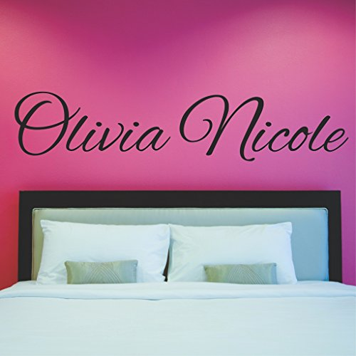 Fancy Cursive Single Personalized Custom Name Vinyl Wall Art Decal Sticker 36
