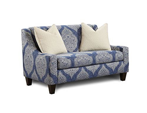 Furniture of America Torsher Contemporary Love Seat, Damask Pattern