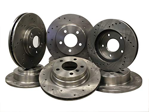 5552D Front Drilled Brake Rotor pair of 2 ()