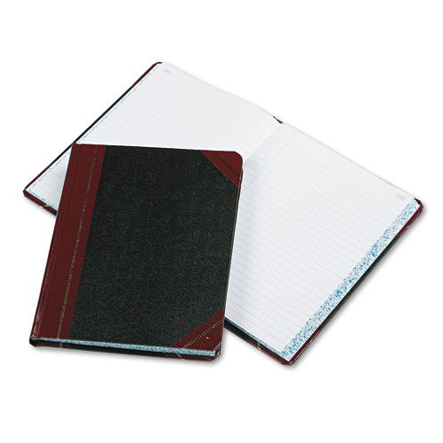 NEW - Record/Account Book, Record Rule, Black/Red, 300 Pages, 9 5/8 x 7 5/8 - 38300R