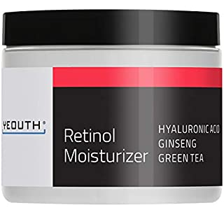 YEOUTH Retinol Cream Moisturizer 2.5% for Face with Hyaluronic Acid, Ginseng and Green Tea (4oz)