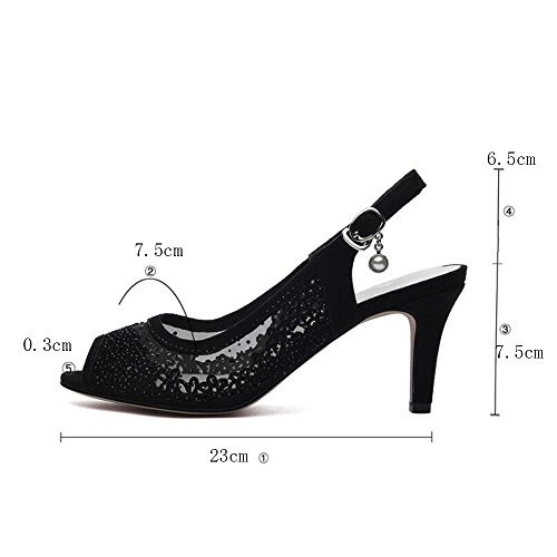 Size Eu37 For Pu Light 4 Low Spring Casual Haizhen Women B B color Shoes uk4 Heel Buckle Women's Summer Heels cn37 5 Soles 7YwxaTtq
