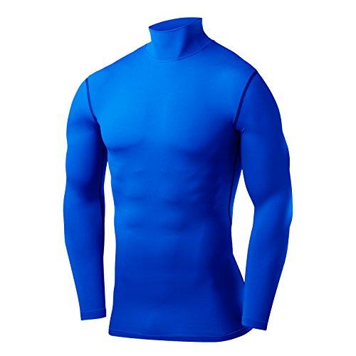PowerLayer Herren Kind Funktionsunterwäsche Kompressionsshirt Armour Compression Top Skins Langarm - Large - Blue