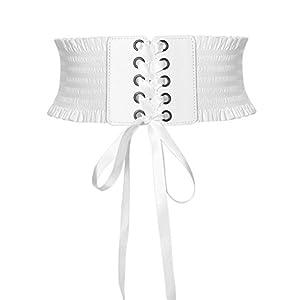 Oyccen Signora Cinture Stringate Donna Cintura Larga Elastica Cinturino in Vita