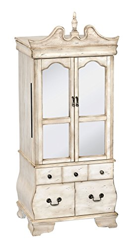 Acme Furniture 97204 Otis Jewelry Armoire, Antique White