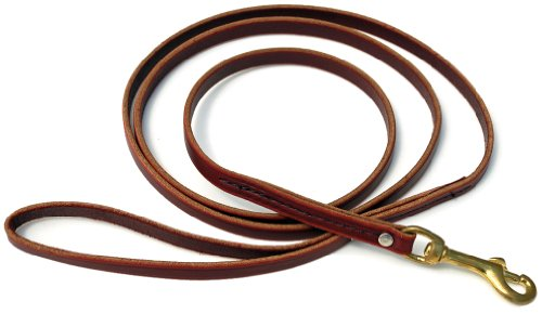 - Signature K9 Standard Leather Leash, 6-Feet x 1/2-Inch, Burgundy
