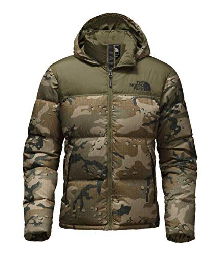 The North Face Mens Novelty Nuptse Jacket NF0A33QBYJB_M - Burnt Olive Green Woodchip Camo Print/Burnt Olive Green