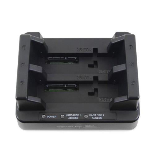 Cavalry CAHDD Series USB Dual-Bay Dock With RAID Feature EN-CAHDD2B-D