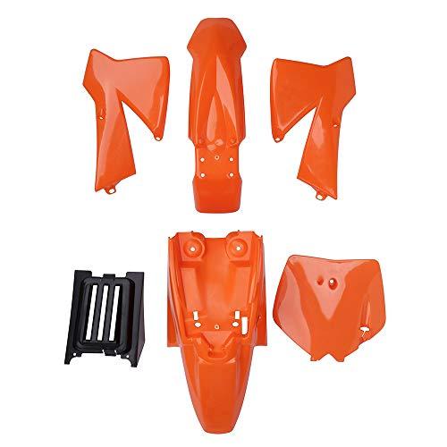 JFG RACING ABS Plastic Fender Kit Body Work Fairing Kits Tank Shrouds Number Plate For SX50 Junior 50cc SX 50 (Orange)