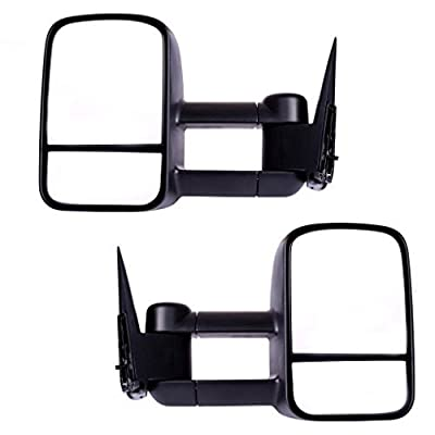 DEDC Chevy Tow Mirrors 99-06 Chevy Towing Mirrors Manual Towing Mirrors Chevy Silverado Sierra Tow Mirrors Pair For Chevy Silverado GMC Sierra Truck from Dedc