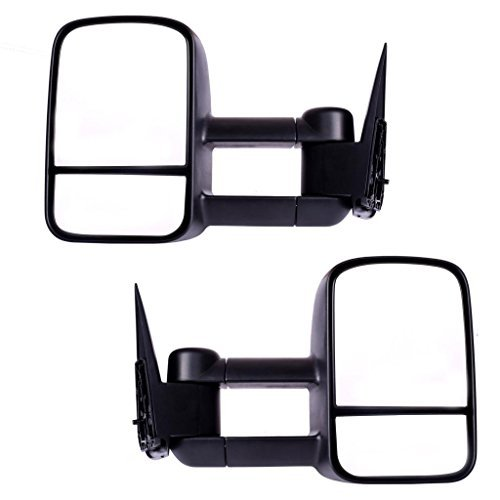 DEDC Chevy Tow Mirrors 99-06 Chevy Towing Mirrors Manual Towing Mirrors Chevy Silverado Sierra Tow Mirrors Pair For Chevy Silverado GMC Sierra Truck (2001 Suburban Towing Mirrors compare prices)