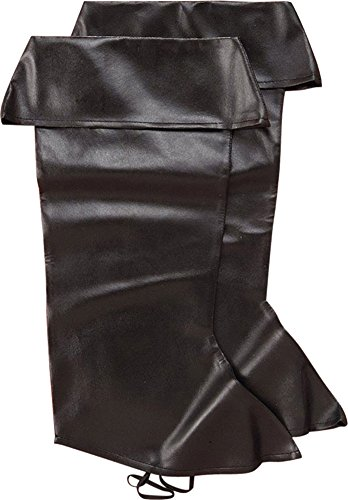 Forum Novelties Pirate Boot Covers for Adults - Black ()